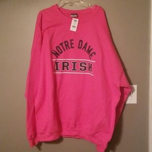 New with tags Pink Notre Dame Sweatshirt
